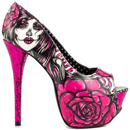 1000  images about Gothic Shoes on Pinterest | Skull heels, Gothic ...