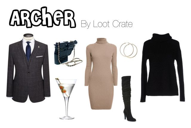 """Archer Fasion"" by lootcrate ❤ liked on Polyvore featuring Rumour London, Carlos by Carlos Santana, Ted Baker, Luigi Bormioli and Ca' VAGAN"