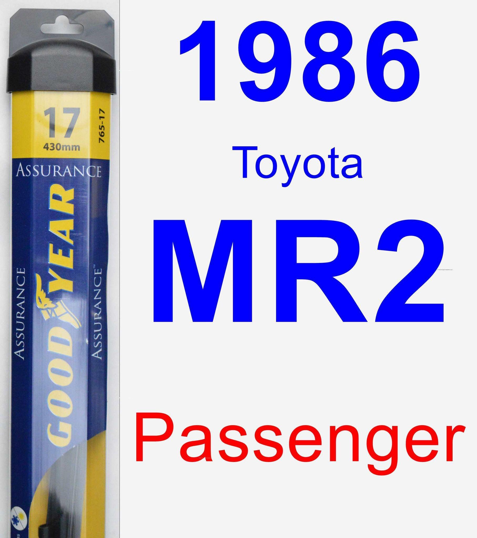Passenger Wiper Blade For 1986 Toyota MR2