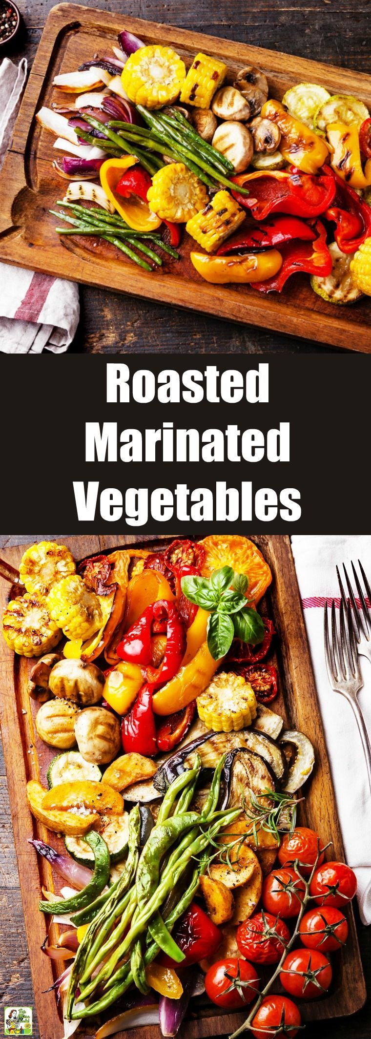 Roasted Marinated Vegetables can be cooked in the oven. Or make roasted grilled marinated vegetables on your grill using your favorite veggies. Naturally vegetarian and vegan. Goes great with your favorite dinner dishes. Marinated Vegetables can be cooked in the oven. Or make roasted grilled marinated vegetables on your grill using your favorite veggies. Naturally vegetarian and vegan. Goes great with your favorite dinner dishes.