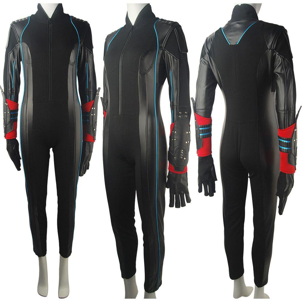 Oasis Costume - Marvel Avengers Age of Ultron Black Widow Natasha Romanova  Catsuit Suit Gloves Halloween