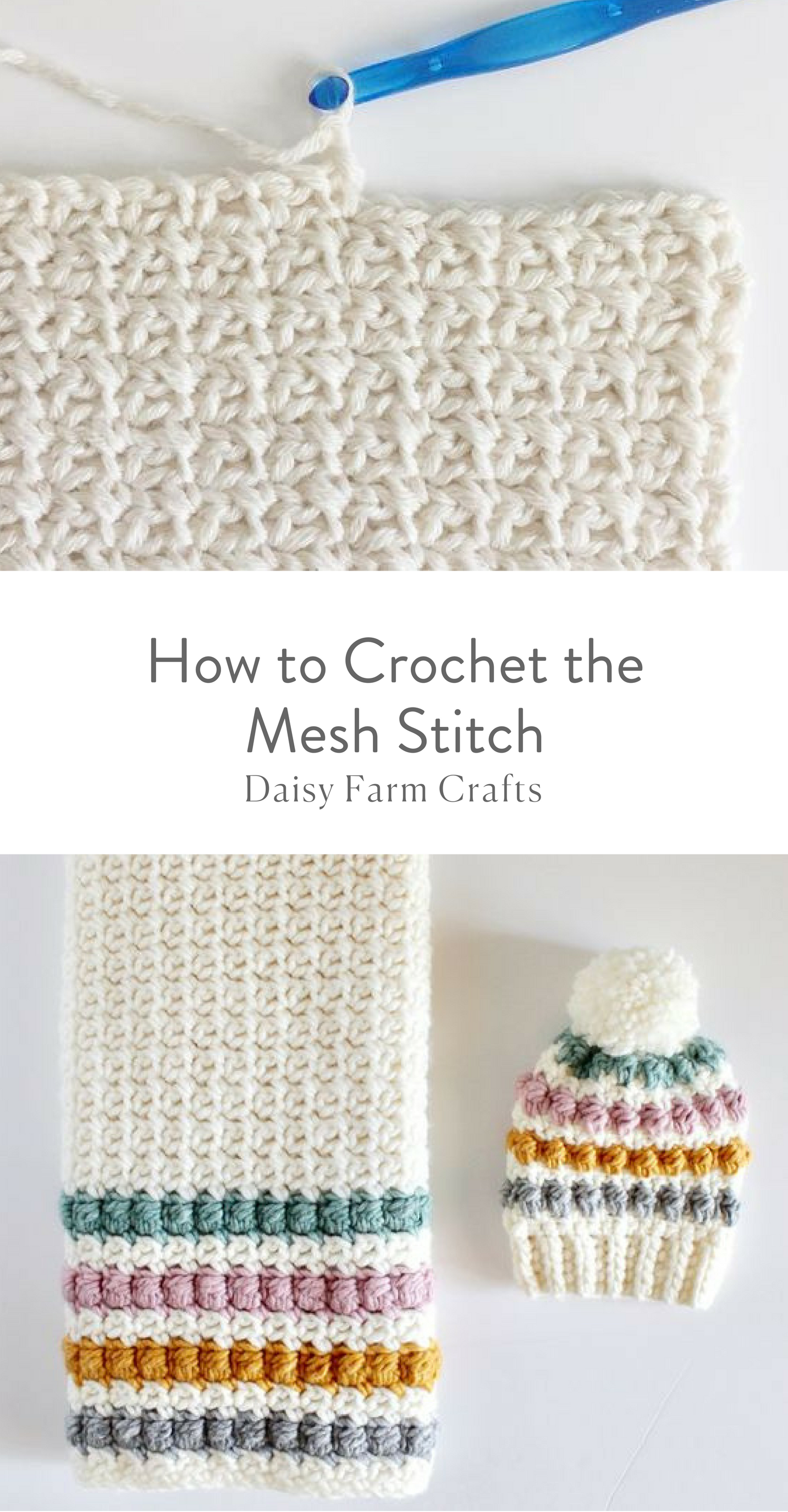 How to Crochet the Mesh Stitch #crochetstitchespatterns