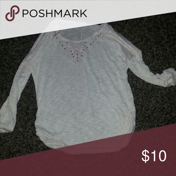 White sweater Cute white sweater Maurices Sweaters