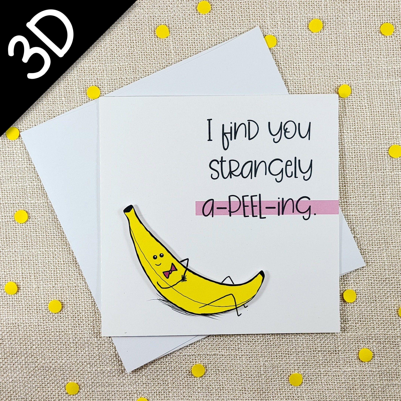 Banana Funny Pun Card Handmade Greeting Card Cute Card Etsy Pun Card Greeting Cards Handmade Cards