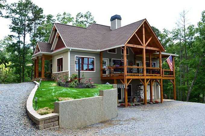 Lake wedowee creek retreat house plan craftsman lake Craftsman lake house
