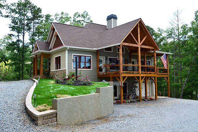 Lake Wedowee Creek Retreat House Plan Craftsman Lake House Small Lake Houses Rustic House Plans