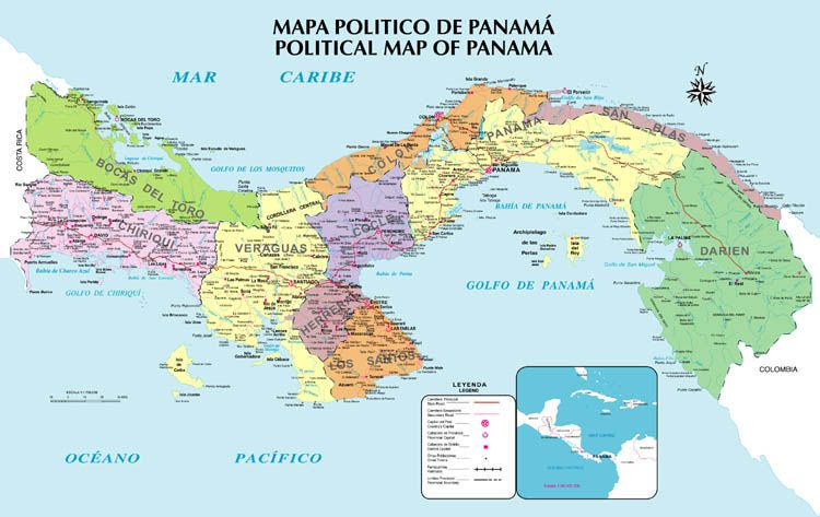 Panama Mapa De Panama America Central Island Prospects