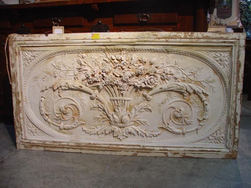 Plaster Relief Overdoor Panel From France Plaster