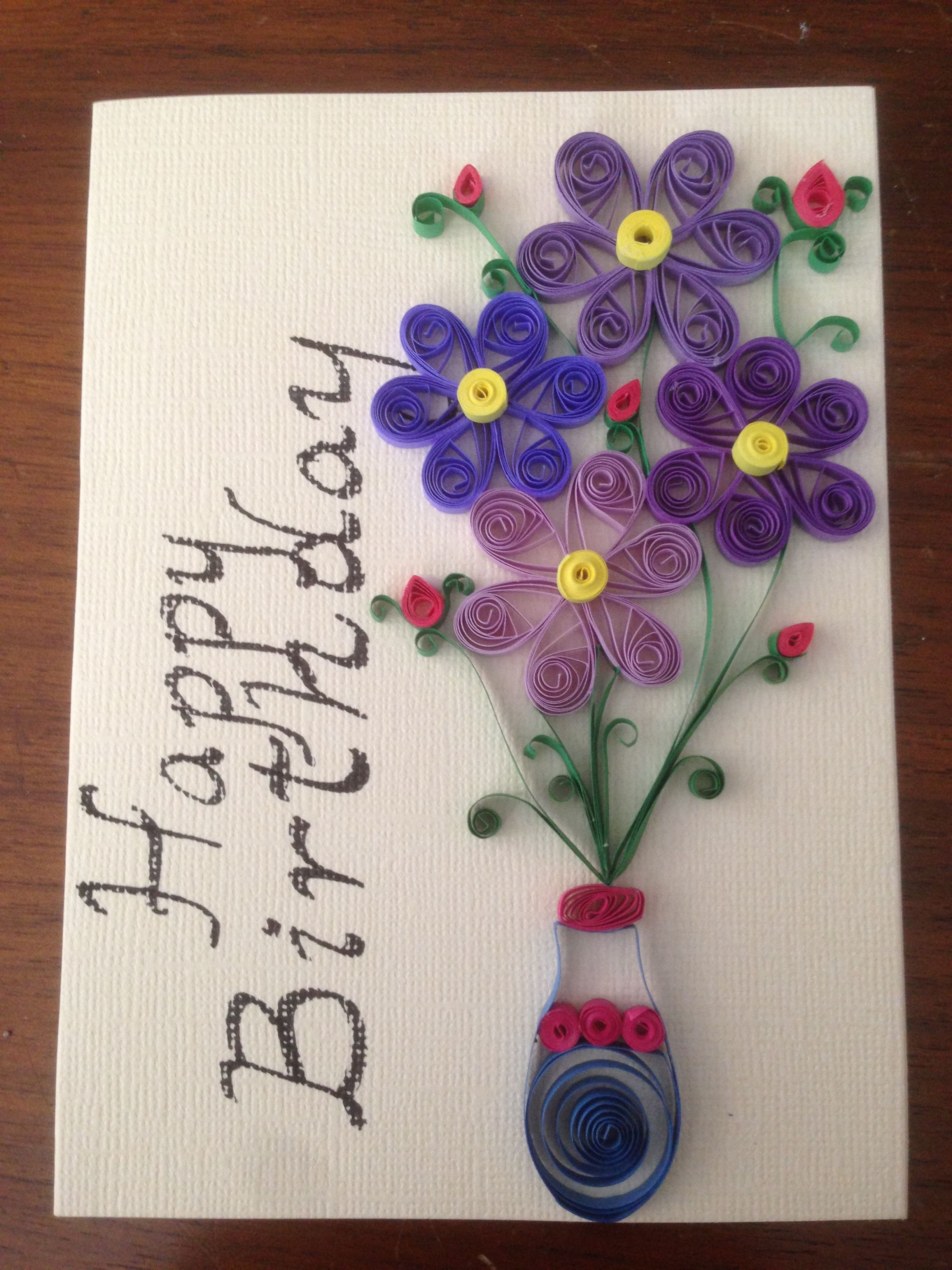 Paper Quilling Birthday Card Handmade Card Greeting Cards