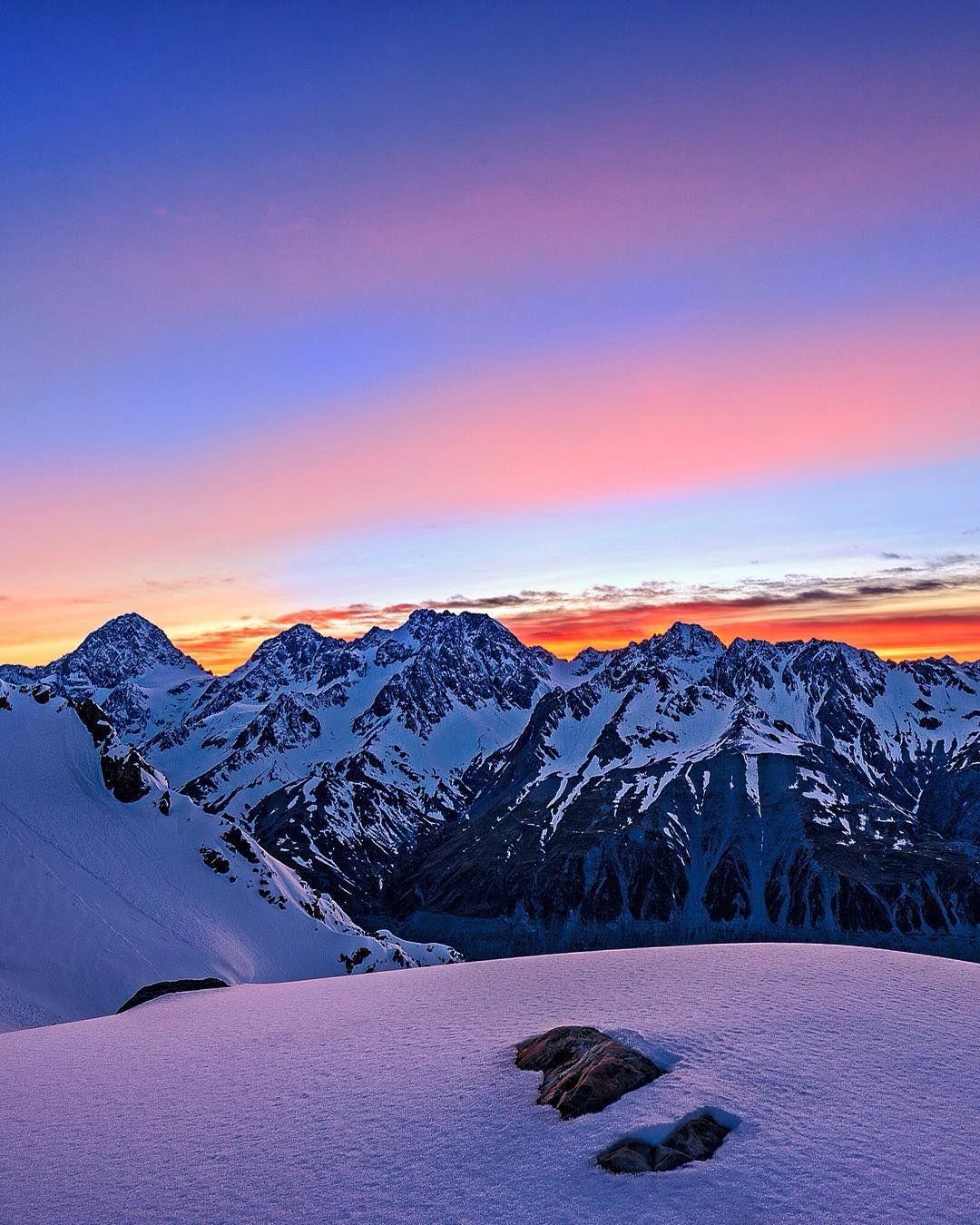 Sunrise over the Tasman valley.