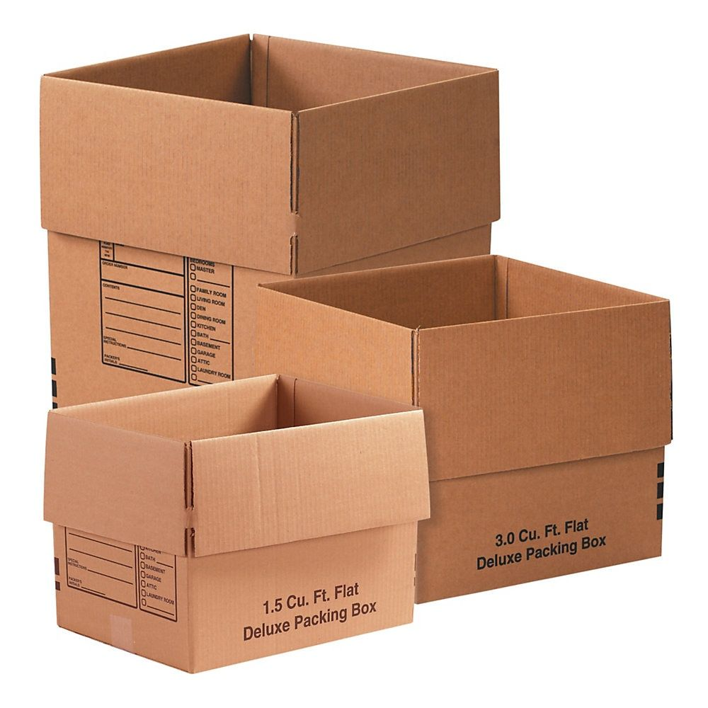 Office Depot Brand Deluxe Moving Boxes Combination Pack 1 Kraft