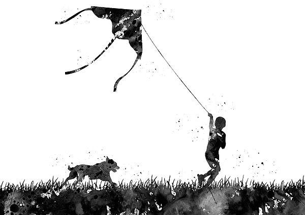Running boy with flying kite by Erzebet S in 2020 | Kite ...