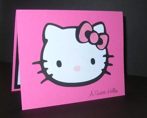 Handmade hello kitty card cute my creations pinterest hello handmade hello kitty card cute bookmarktalkfo Gallery