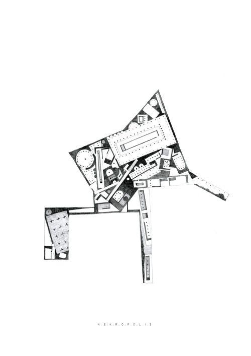 Arakelyan Ruben, N.E.K.R.O.P.O.L.I.S., pencil, 42x 29.7 cm.
