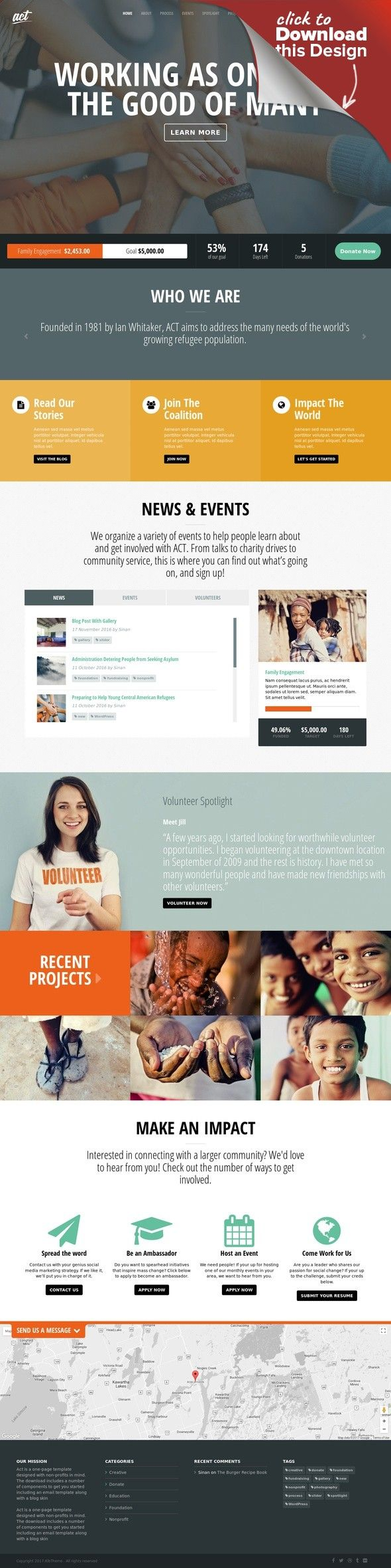 Act - Multipurpose Nonprofit Theme bootstrap, campaign, charity ...