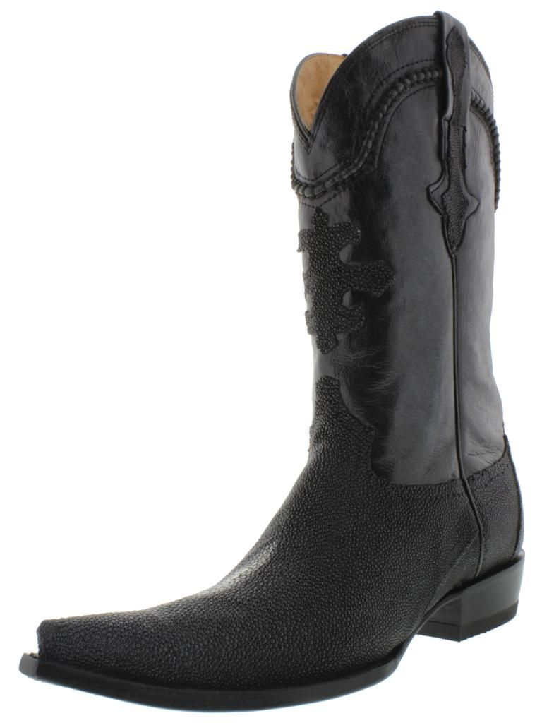 d59f9cc0c7d Details about men's black genuine stingray cowboy boots exotic ...