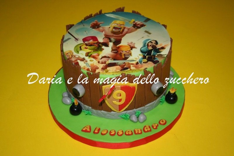 Torte Bambini ~ Torta clash of clans clash of clans cake children cakes torte
