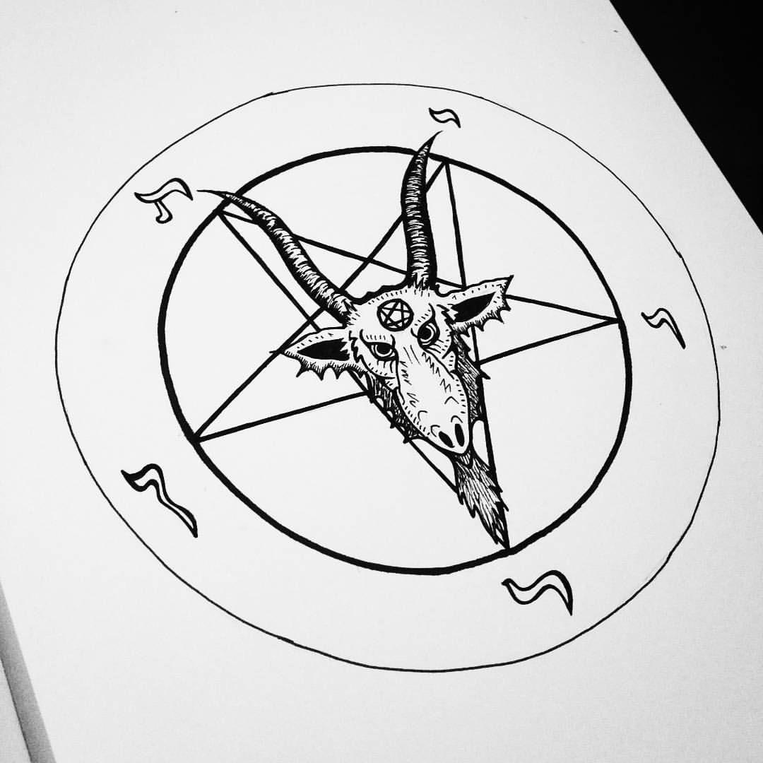 Baphomet drawing. #baphomet #pentagram #devil #drawing # ...