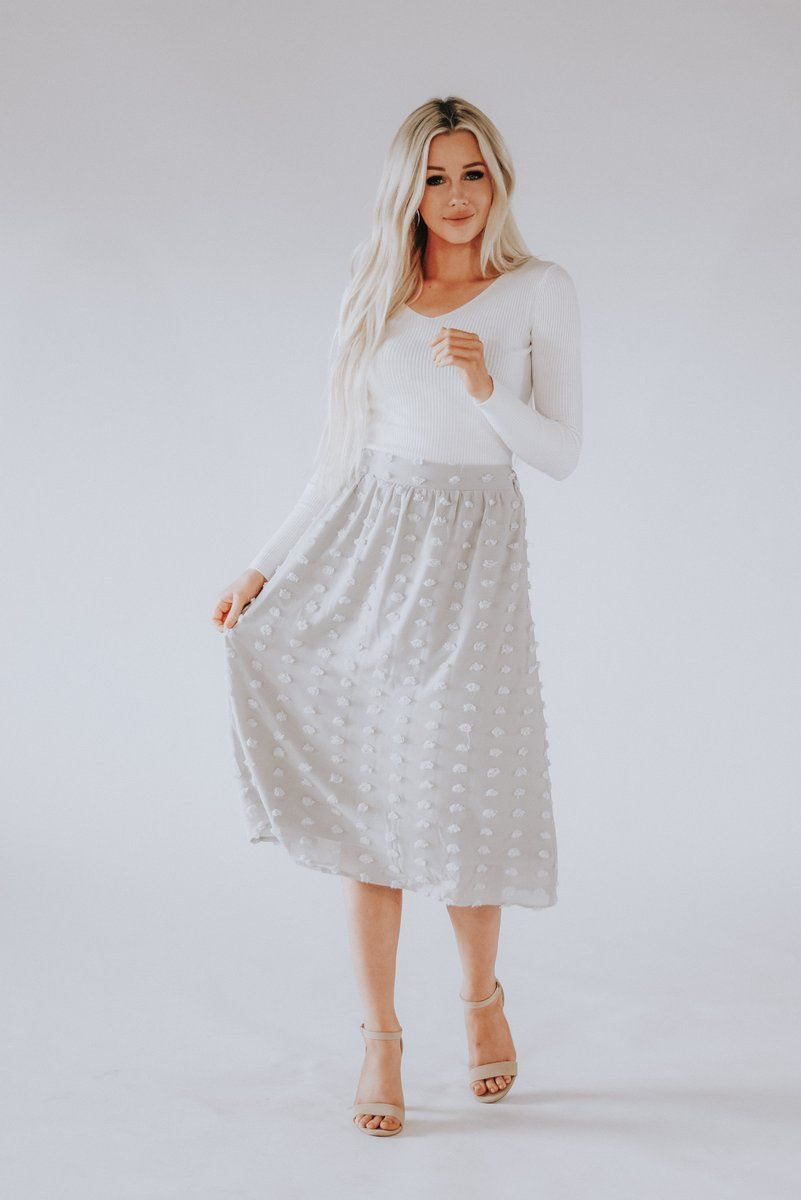 We Can T Stop Daydreaming About The Esme Swiss Dot Midi Skirt Swiss Dots Add Sweet Detail To Airy Woven Fabric As It Shapes Dot Midi Skirt Midi Skirt Skirts [ 1200 x 801 Pixel ]