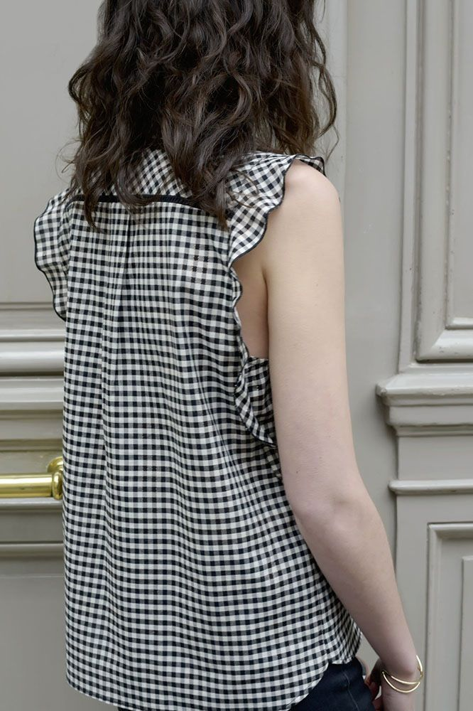 Marque find Robe Vichy /à Volants Femme