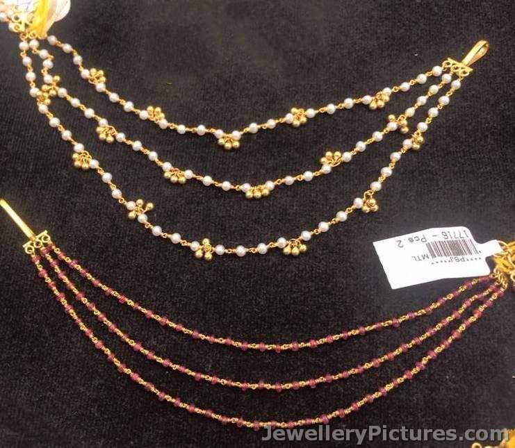 Champaswaralu Latest Designs In Gold Gold Jewelry Fashion Arm Jewelry Ear Chain