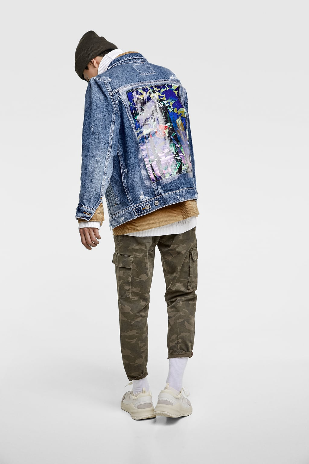 Men S Denim Jackets New Collection Online Zara Colombia Printed Denim Denim Jacket Men Denim Jacket [ 1536 x 1024 Pixel ]