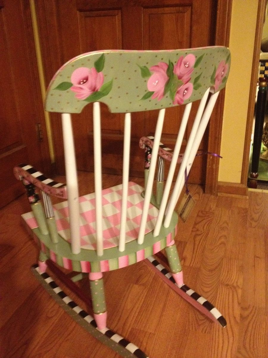 painted kids furniture. Hand Painted Childs Rocking Chair Kids Furniture