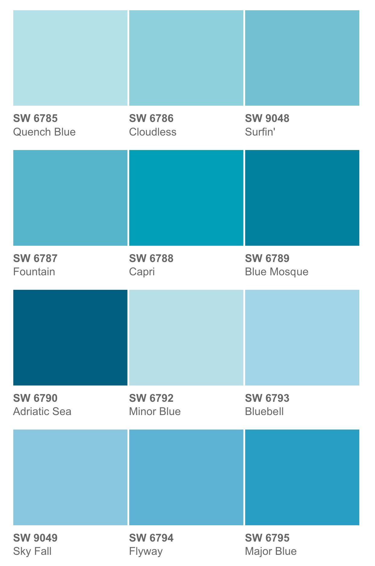 Quench Blue Or Minor Blue Or A Few Shades Lighter Light Blue