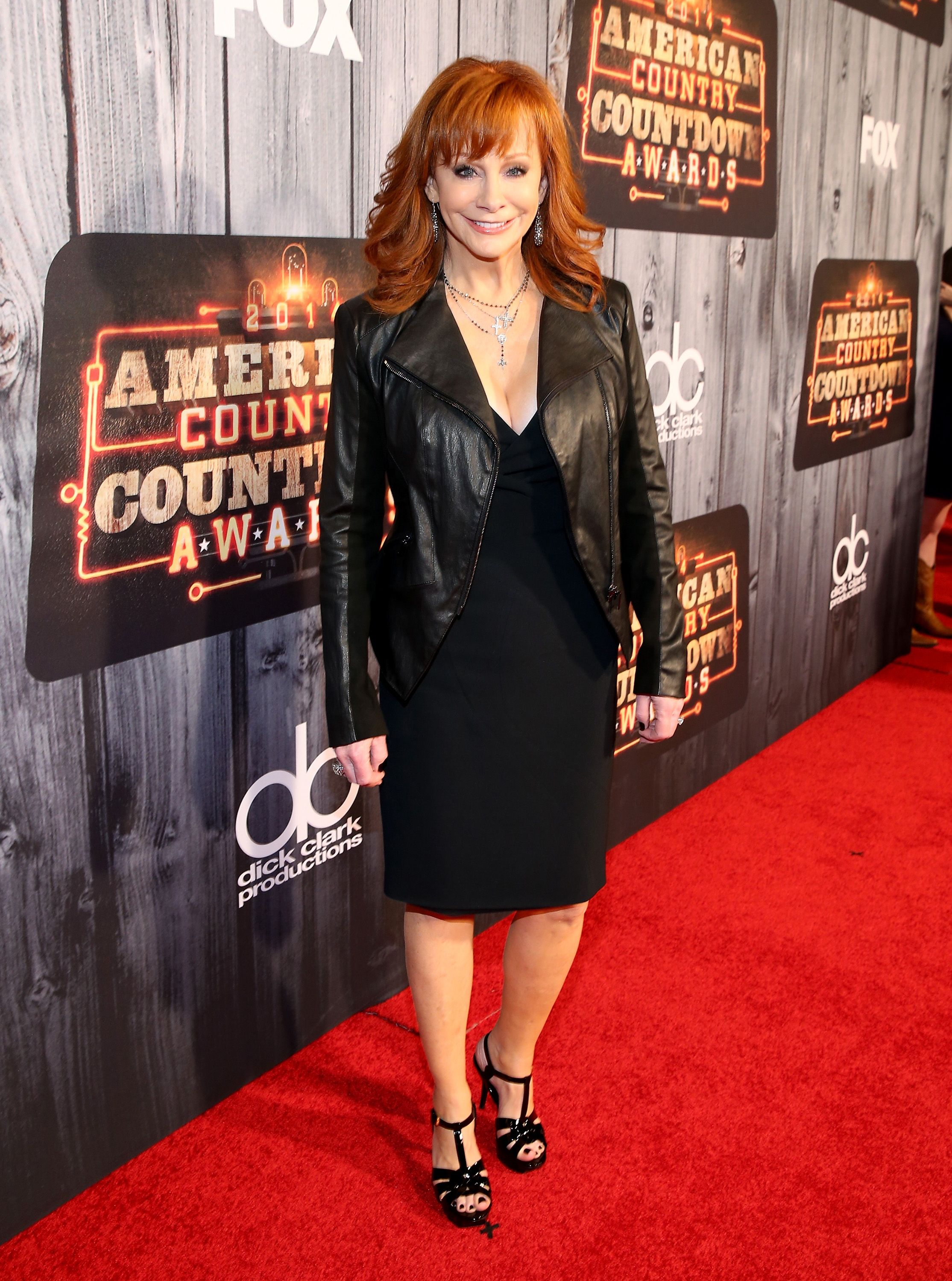 red American country music carpet awards