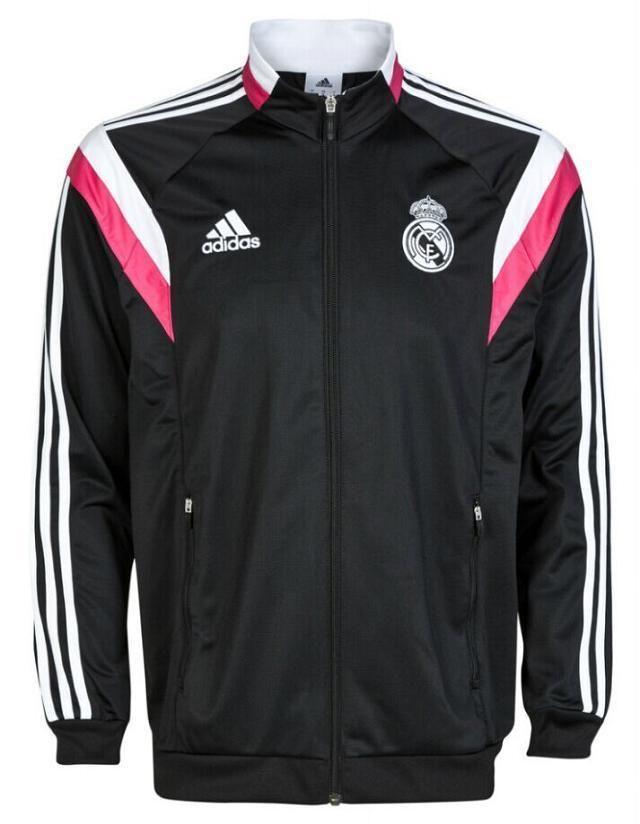 real madrid 2014 black pink training jacket soccer. Black Bedroom Furniture Sets. Home Design Ideas
