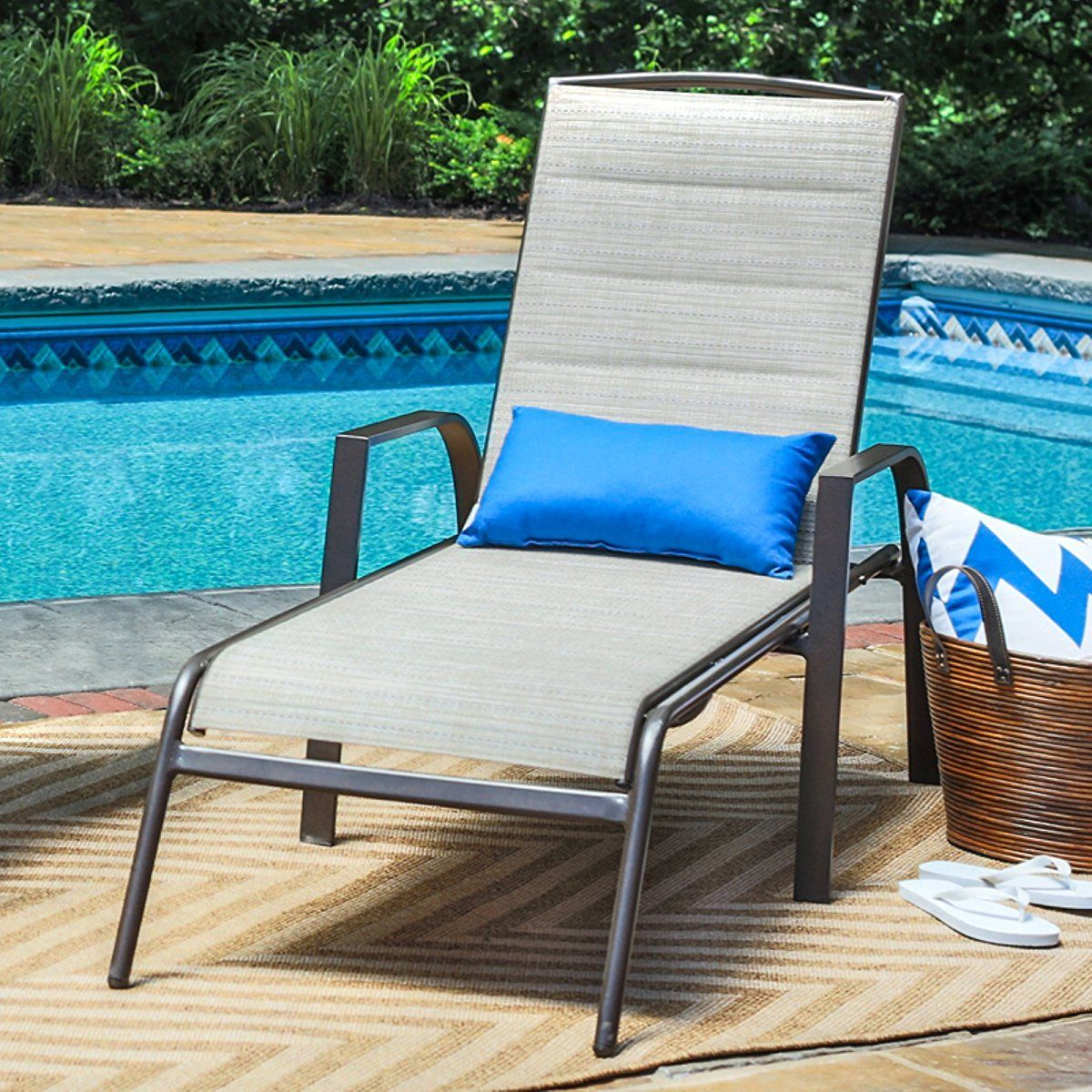 Coral coast coral coast del rey padded sling chaise