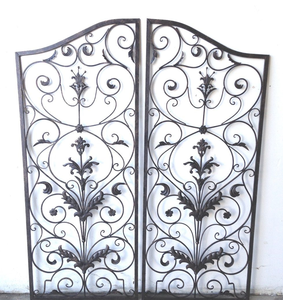 "Wrought Iron Wall Grille 60H X 48 W 24"" Each Oos Oriannatuscan60""indooroutdoor"