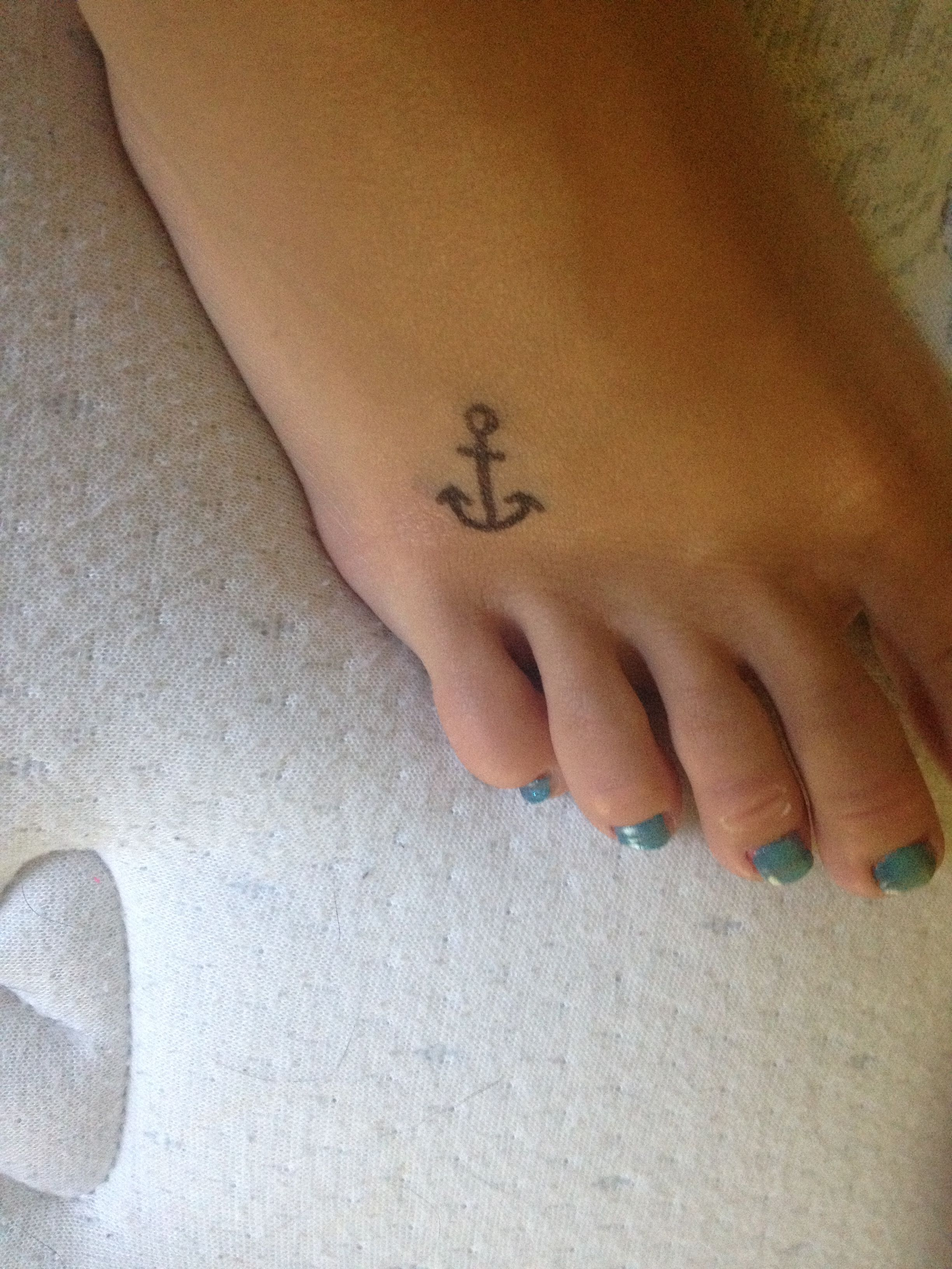 Photo of Anchor tattoo design i did with sharpie