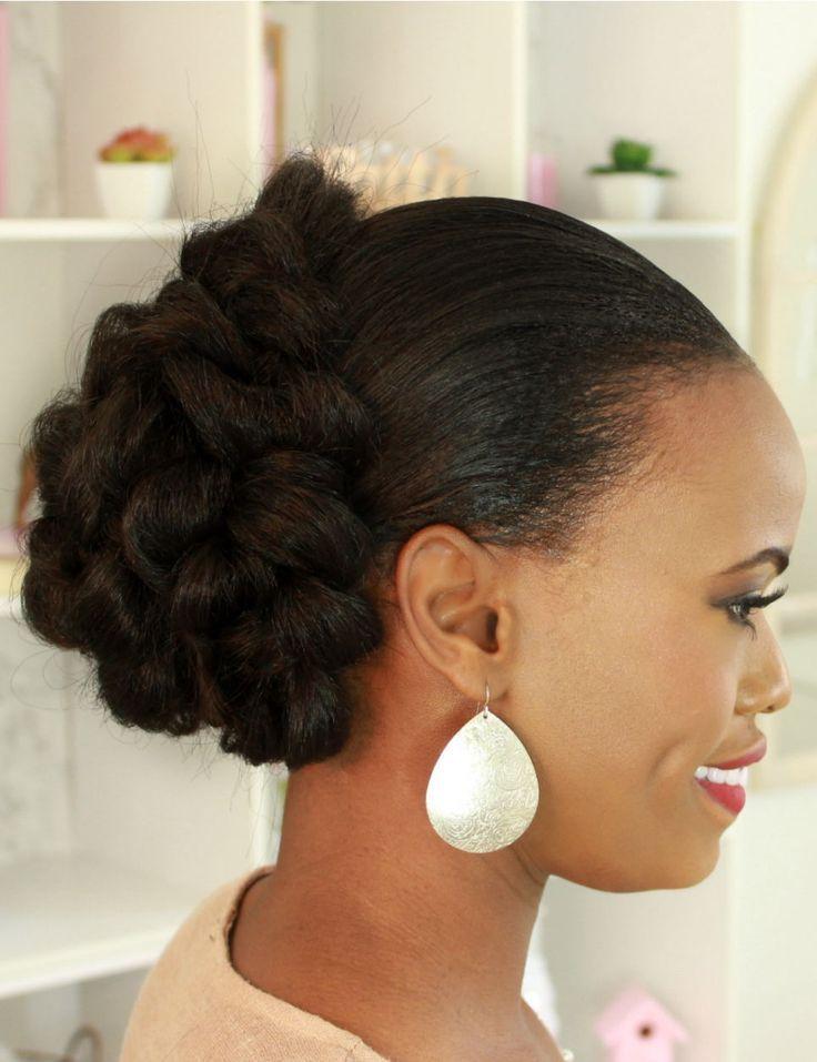 2019 natural hair bridal hairstyles for black women #bunshairstylesforblackwomen
