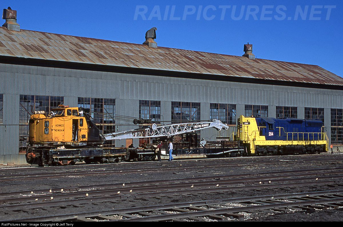 RailPictures.Net Photo: NNRY 204 Nevada Northern Railway EMD SD9 at Ely, Nevada by Jeff Terry