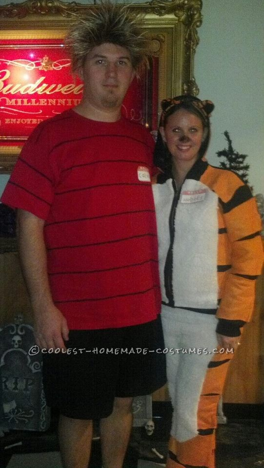 Original Grown-Up Calvin and Hobbes Couple Halloween Costume - cute halloween ideas for couples