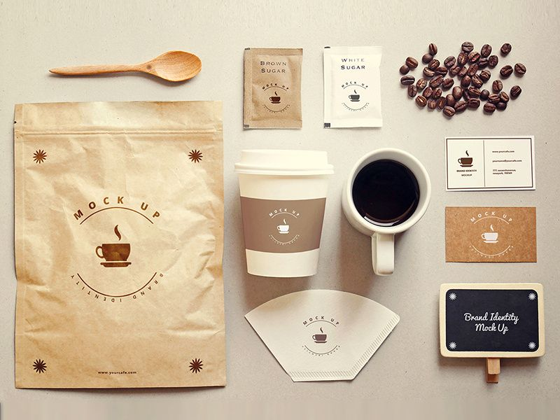 Coffee Stationery Mock Up Free Psd Branding Mockups Free Coffee Shop Branding Stationery Mockup