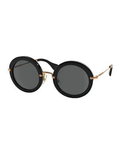 2368aa89fbb Miu Miu Round Acetate Sunglasses