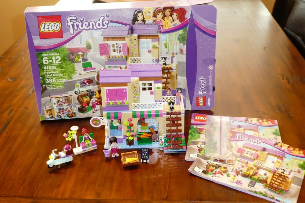 Lego Friends Heartlake Food Market 41108 In Box Complete W