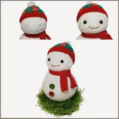 C mo hacer mu ecos de nieve con calcetines o medias for Munecos con calcetines