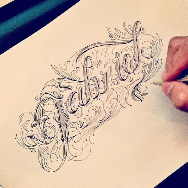 Hand type vol 4 by raul alejandro via behance for Letter tattoos on hand