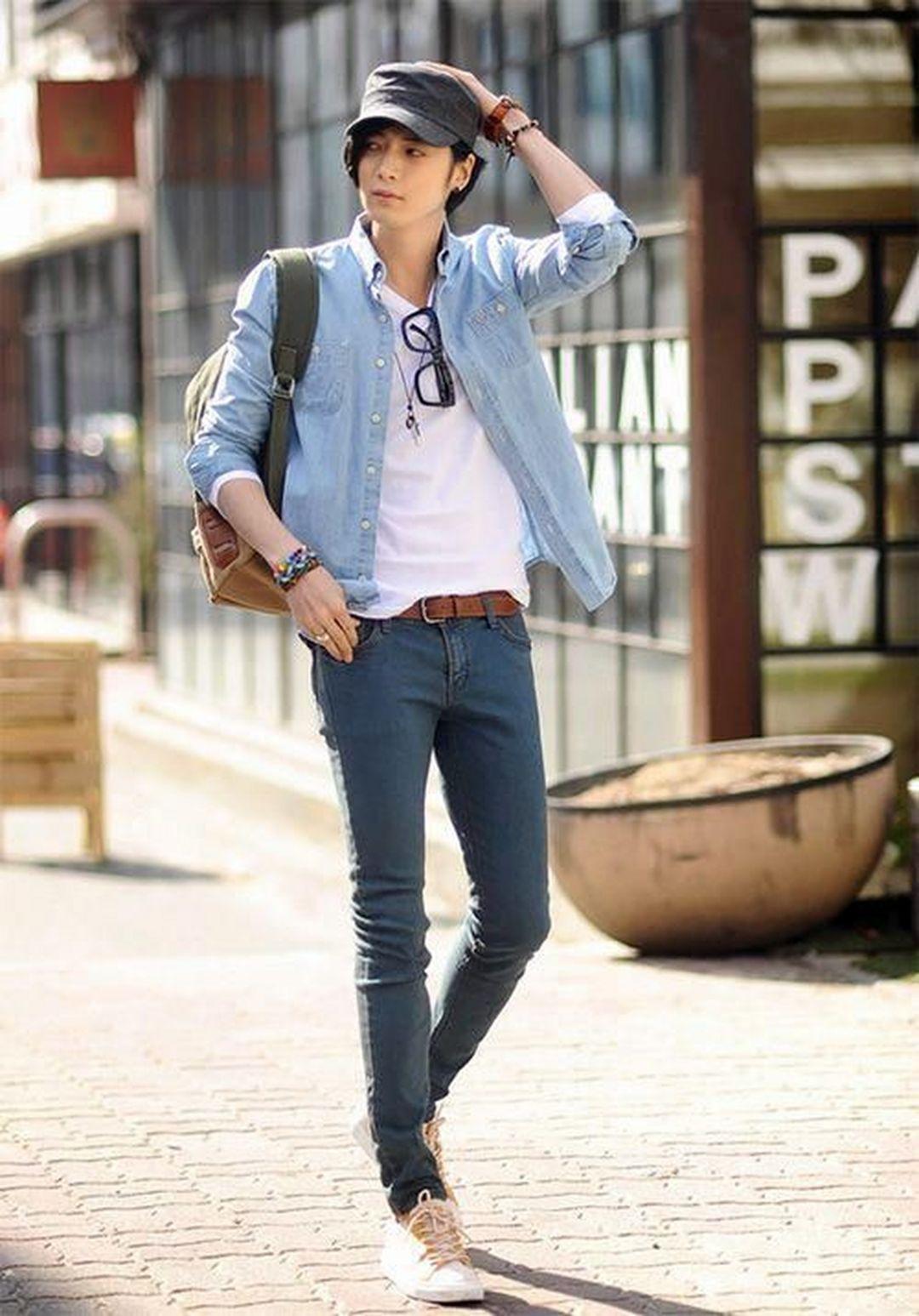 13 Cool Summer Mens Street Styles Ideas Men Ssummeroutfits Mensfashionideas Summermensstr Asian Men Fashion Korean Street Fashion Korean Fashion Men [ 1547 x 1080 Pixel ]
