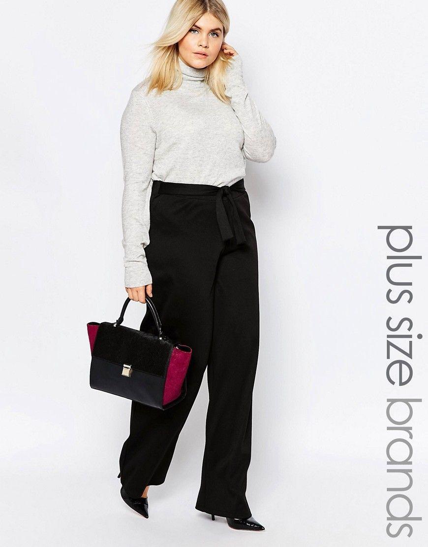 Super cool Pink Clove Belted Wide Leg Trouser - Black Pink Clove Bukser til Damer til hverdag og til fest