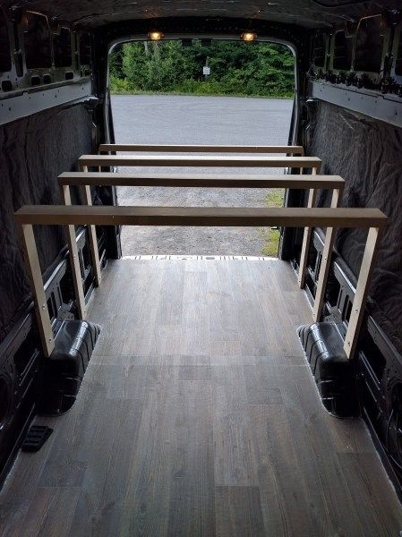 719194fca4f16d Platform Bed Installation in a Camper Van Conversion