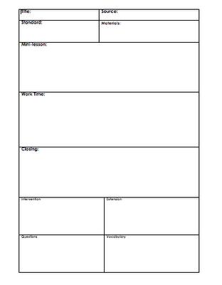 Lesson Plan template | Lesson Plan Templates | Pinterest | The box ...
