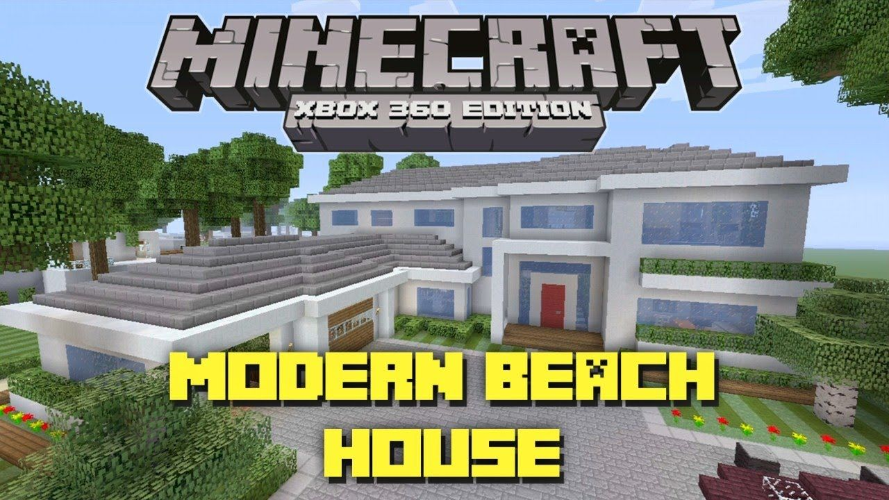 Minecraft modern beach house blueprints