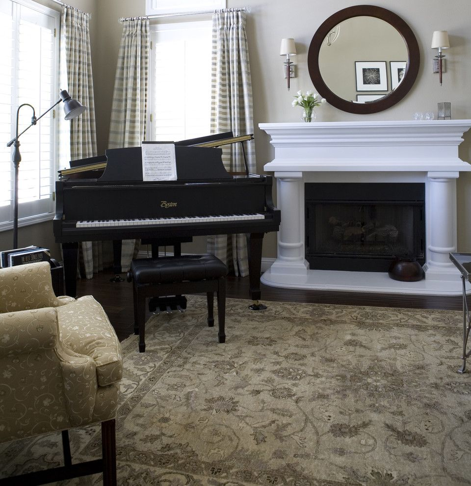 Exciting decorating living room grand piano living rooms for Grand piano in living room