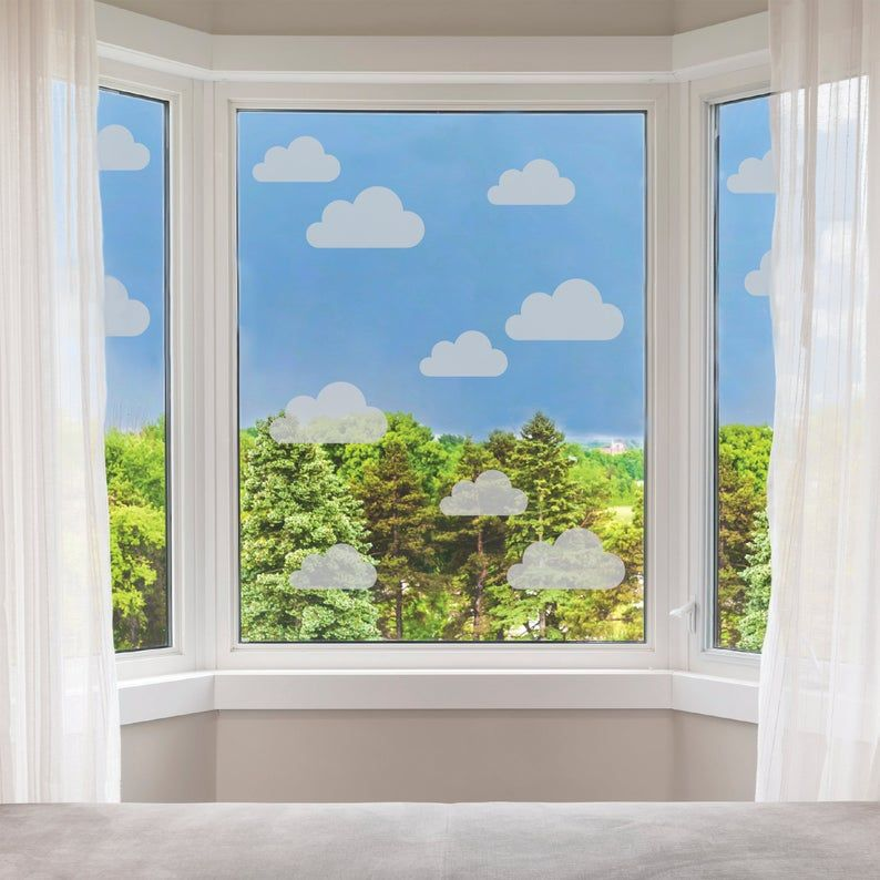 Frosted Cloud Window Stickers Clouds Privacy Glass Stickers