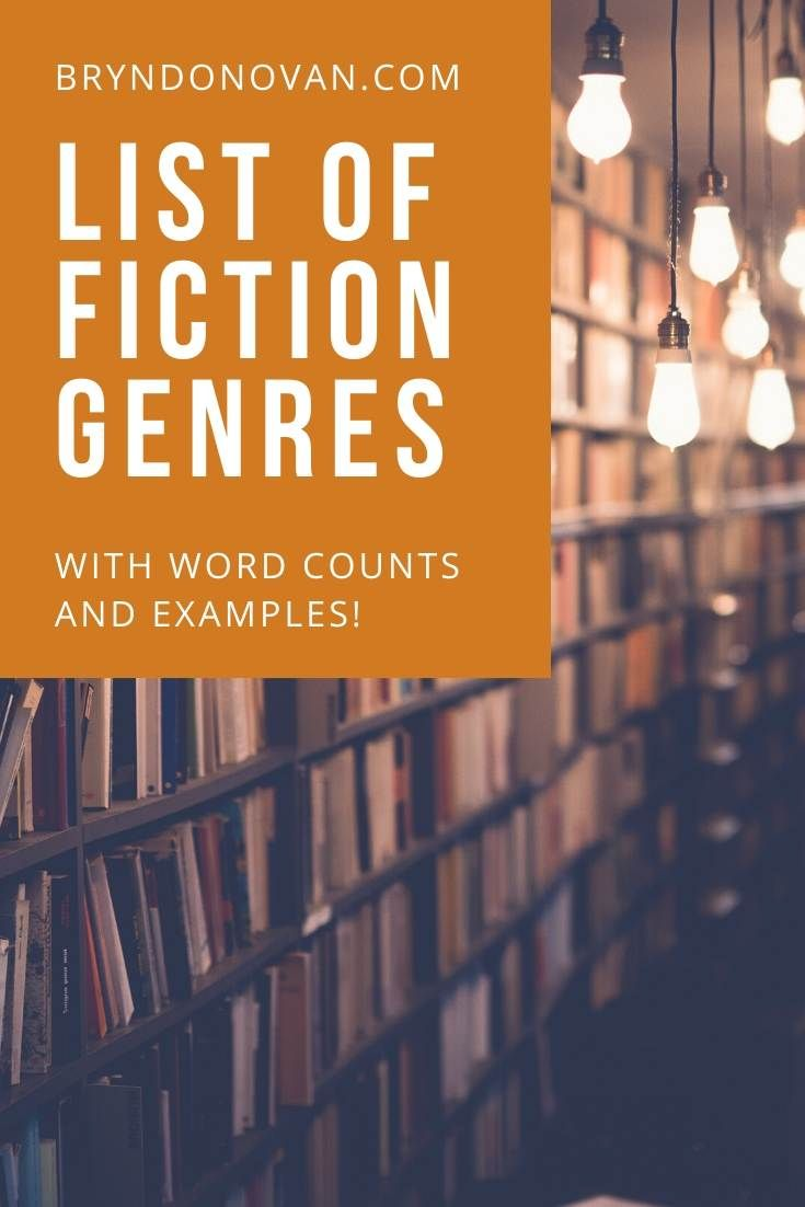 List of fiction genres with word counts and examples