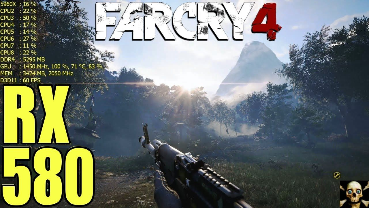 Far Cry 4 RX 580 Overclocked Fps Performance Gameplay 1080P | AMD
